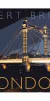 Albert Bridge Poster - A2 (594 x420mm). Signed and numbered.